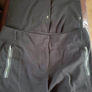 Chico's Black Pants with Roll-Up Legs
